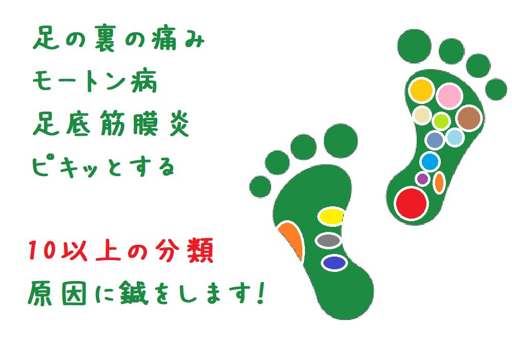 モートン病・足底筋膜炎などの足裏の痛みに対する鍼灸治療